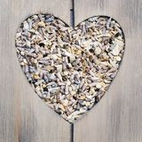 Heartshaped wooden frame Royalty Free Stock Photos