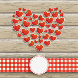 Heartsheart Emblem Wood Royalty Free Stock Images