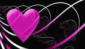 Heartsong para el día de tarjetas del día de San Valentín ilustración del vector