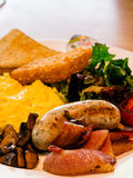 Hearty american breakfast Royalty Free Stock Photography