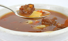 Hearty beef post roast stew Royalty Free Stock Photos