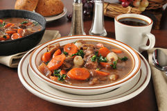 Hearty beef stew bourguignon Royalty Free Stock Images