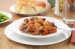 Hearty beef stew Stock Images