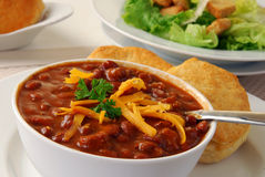 Hearty bowl of chili royalty free stock image