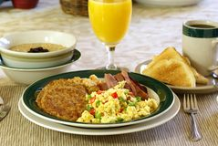 Hearty Breakfast Stock Photo