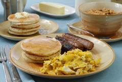 Hearty breakfast Royalty Free Stock Photo