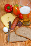 Hearty breakfast Stock Image