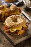 Hearty Breakfast Sandwich on a Bagel Royalty Free Stock Image