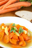 Hearty carrot soup Stock Photography