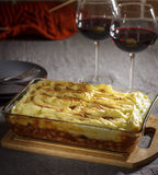 Hearty cottage pie Stock Photo