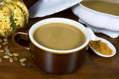 Hearty Curried Pumpkin Soup Stock Photography