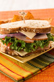 Hearty Delicious Healthy Ham Turkey Lunch Sandwich Royalty Free Stock Photos