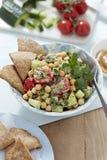 Hearty felafel salad Stock Photo