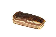 Hearty ham bacon. Smoked ham on white background Stock Image
