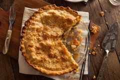 Hearty Homemade Chicken Pot Pie Royalty Free Stock Photo