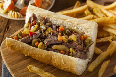 Hearty Italian Beef Sandwich Stock Photo