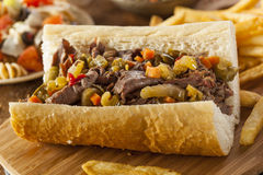 Hearty Italian Beef Sandwich Royalty Free Stock Photography