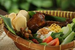 Hearty Javanese Meal Royalty Free Stock Images