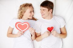 Hearty lovers Stock Image