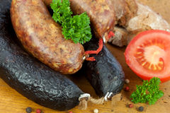 Hearty meat platter Stock Photo