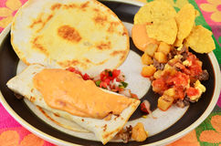 Hearty Mexican Breakfast Stock Photos