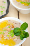 Hearty Middle Eastern Chickpea and Barley Soup Royalty Free Stock Photos