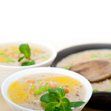 Hearty Middle Eastern Chickpea and Barley Soup Royalty Free Stock Photography