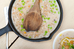 Hearty Middle Eastern Chickpea and Barley Soup Royalty Free Stock Images