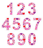 Hearty Numbers Stock Image