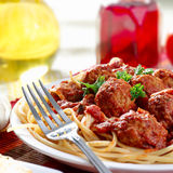 Hearty spaghetti dinner Royalty Free Stock Photo