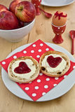 Hearty toasts for breakfast Stock Photo