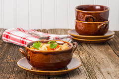 Hearty Turkey Soup Stock Photos