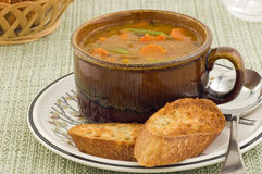 Hearty vegetable soup Stock Photos
