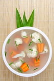 Hearty Vegetable soup. Stew with carrots and cauliflower. . Royalty Free Stock Photo
