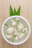 Hearty Vegetable soup. Stew  cauliflower. . Royalty Free Stock Photography