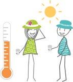 heat illustration stock