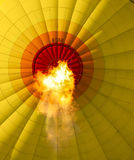 Heat of the balloon. Flame from a hotair balloon royalty free stock photography