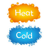 Heat and cold abstract illustration Royalty Free Stock Photography