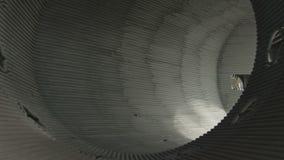 Heat conducting construction. Big industrial construction for heat conducting made by welding pipes stock footage