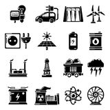 Heat cool air flow tools icons set, simple style. Heat cool air flow tools icons set. Simple illustration of 16 heat cool air flow tools vector icons for web Royalty Free Stock Image