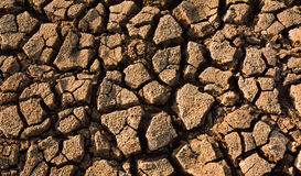 Heat , drought parched ground . Heat , drought parched ground on dry river Royalty Free Stock Photo