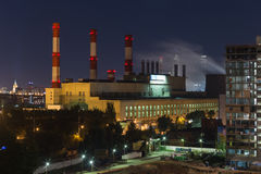 Heat electric plant Stock Image