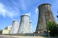 Heat electropower station Royalty Free Stock Photos