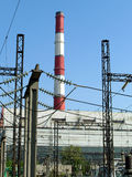 Heat electropower station Royalty Free Stock Images