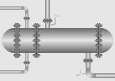 Heat exchanger. Royalty Free Stock Photography