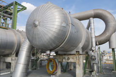 Heat exchanger with blue sky Royalty Free Stock Photo