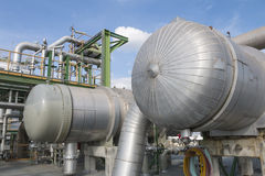 Heat exchanger with blue sky Stock Photo