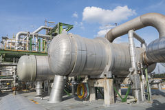 Heat exchanger with blue sky Royalty Free Stock Photos