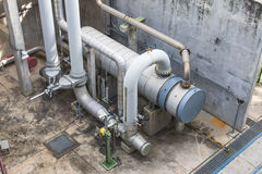 Heat exchanger with pipeline Royalty Free Stock Photography