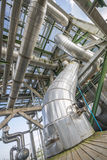 Heat exchanger with pipeline Royalty Free Stock Image
